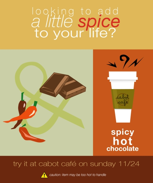 spicy hot chocolate graphic
